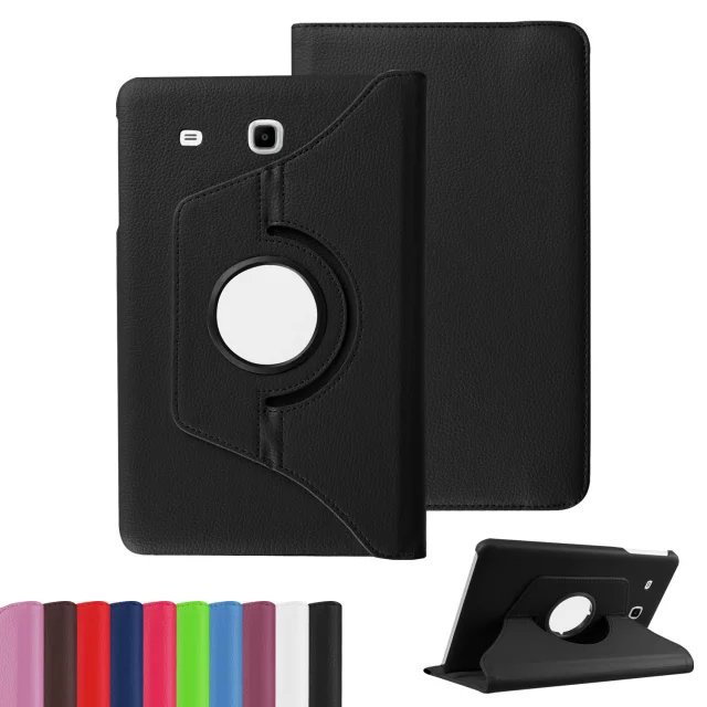 New Products Luxury 360 Rotating Flip Leather Stand Case Cover Tablet Case for Samsung Galaxy Tab E T560 T561 case 360 rotating flip leather stand cover tablet case for samsung galaxy tab e 9 6 t560 t561 with tpu x line case screen film stylus