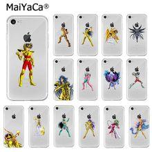 Maiyaca Saint Seiya TPU Mềm Mại Phụ Kiện Điện Thoại Ốp Lưng Điện Thoại Apple iPhone 8 7 6 6S 6S Plus X XS max 5 5S SE XR Di Động Trường Hợp