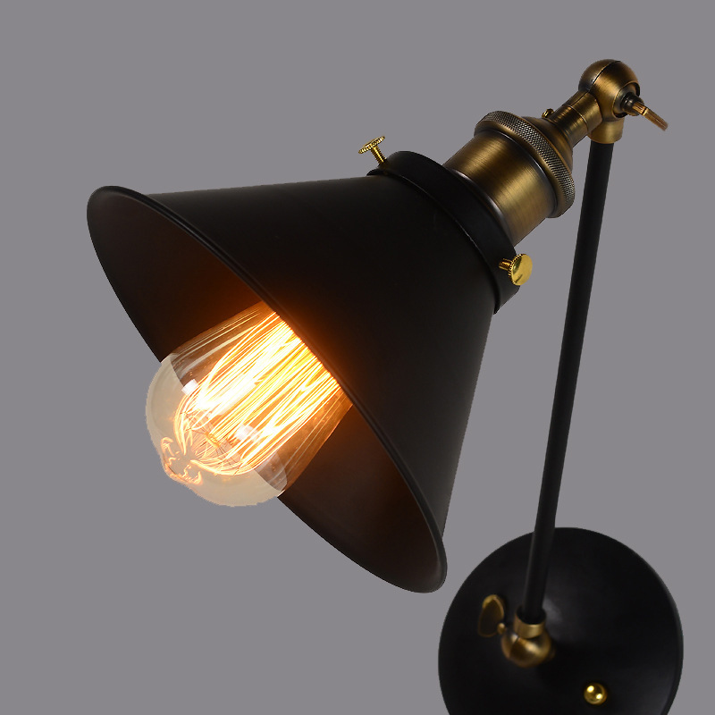 American Pastoral Rural Black Umbrella Double Wrought Iron Wall Sconce Minimalist Living Room Study Dining Hallway Wall Lamp american pastoral rural black umbrella double wrought iron wall sconce minimalist living room study dining hallway wall lamp