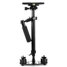 Новый S60 S-60 + Плюс 3.5 кг 60 см Алюминиевый Ручной Steadycam Стабилизатор Steadicam DSLR Видеокамера Фотография бесплатная доставка