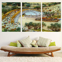 CNA 5D DIY Diamond Painting 3PCS Landscape Full Rhinestone Mosaic Multi pictures Embroidery Ribbon Cross Stitch Crafts