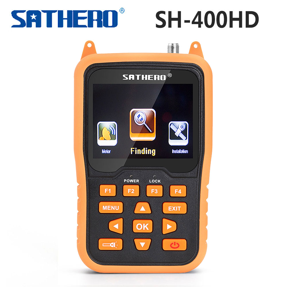 [Genuine] Sathero SH-400HD DVB-S2 DVB-S Signal Satellite Finder 3.5 inch LCD Screen 8PSK 16APSK Digital Meter Sathero SH 400HD