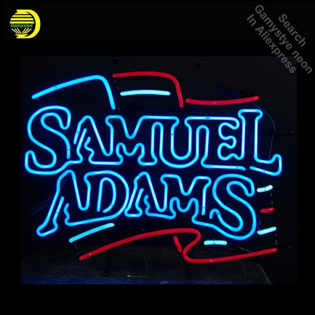 Neon Sign for Samue Adam Neon Flag Neon Bulbs sign Display Handmade Glass tube outdoor neon lights for sale fluorescent signs