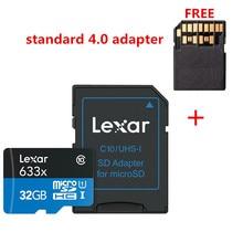 קידום!!! 16 GB 32 GB Lexar מיקרו SD SDHC זיכרון כרטיס במהירות גבוהה 64 GB 128 GB מיקרו SDXC כרטיס TF כרטיס Class10 633X95 M/s