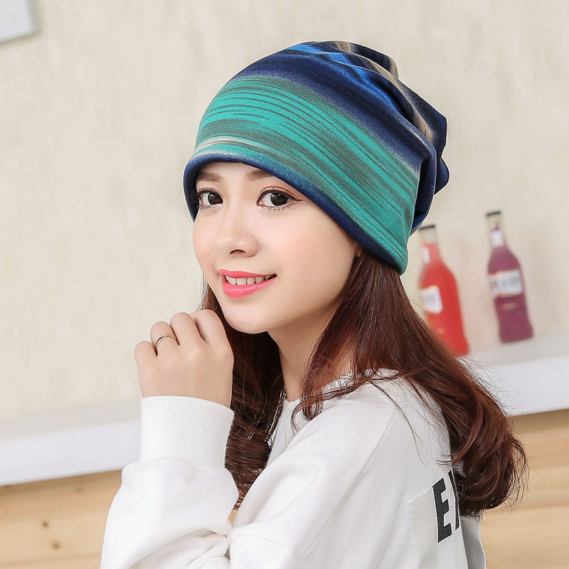 Autumn Winter Hood Warm Beanies Fashion Striped Skullies Scarf Hat Windproof Maternity Cap Pregnant Mother Beanies Caps