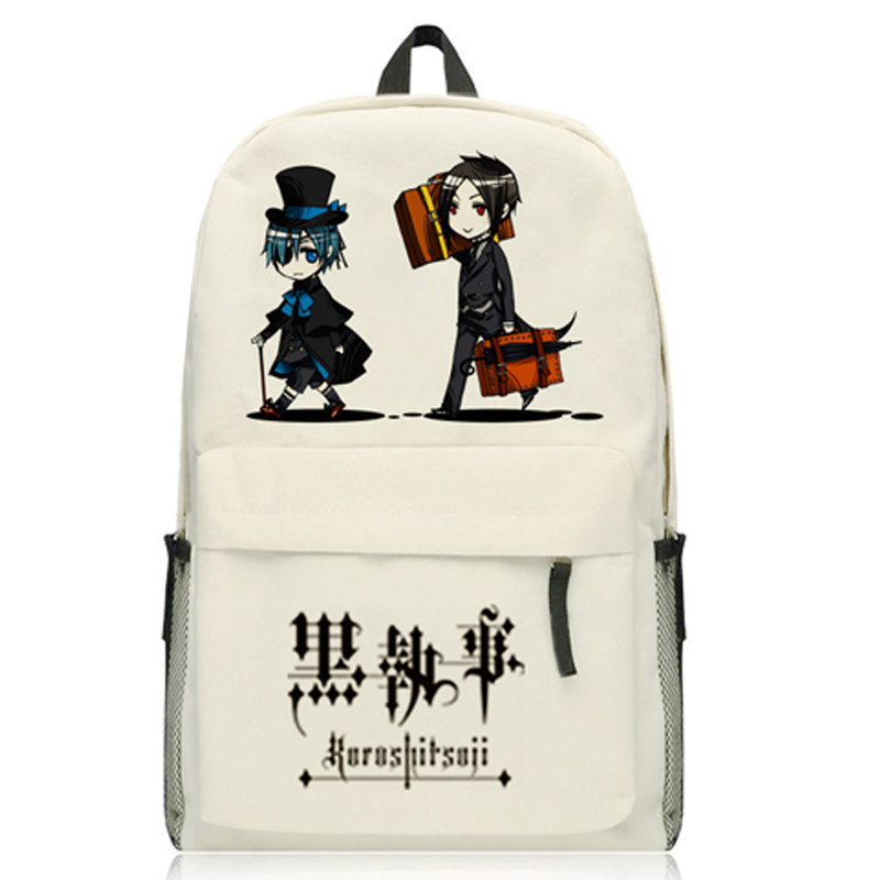 Hot Anime Black Butler / Kuroshitsuji Sebastian Ciel Phantomhive Cosplay Backpack Unisex Shoulders Bag Students School Bag