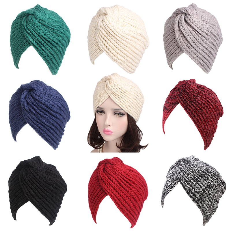 Casual Beanies For Women Hat 2019 Winter Beanies For Ladies Women Crochet Knit Beanie Bonnet Femme
