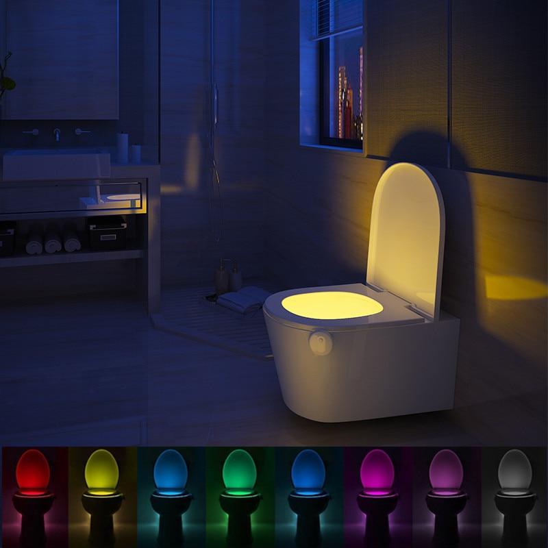 ZUCZUG Toilet Light 8 Colors LED Smart PIR Motion Sensor Toilet Seat Night Light Waterproof Lamps Luminaria Lamp WC Toilet Light