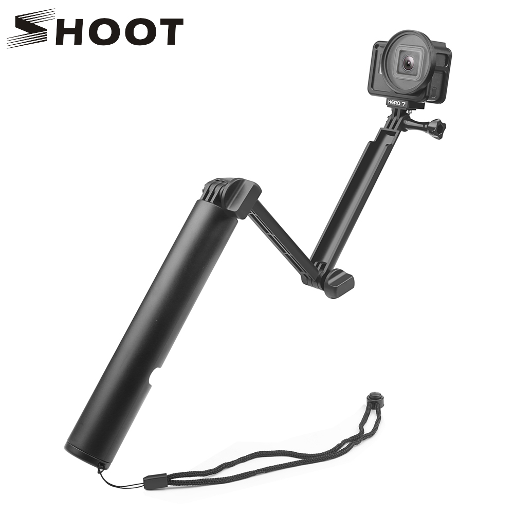 SHOOT Waterproof 3 Way Grip Arm Trípode Monopod para GoPro Hero 6 5 - Cámara y foto