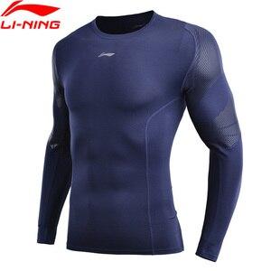 Image 1 - (Break Code) li Ning Men ฐานชั้นที่แห้ง FIT 88% โพลีเอสเตอร์ 12% Spandex แขนยาวซับกีฬาเสื้อยืด AUDN141 MTL1002