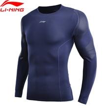 (Code de rupture) li ning hommes couche de Base à sec ajustement serré 88% Polyester 12% Spandex à manches longues doublure sport T shirt AUDN141 MTL1002