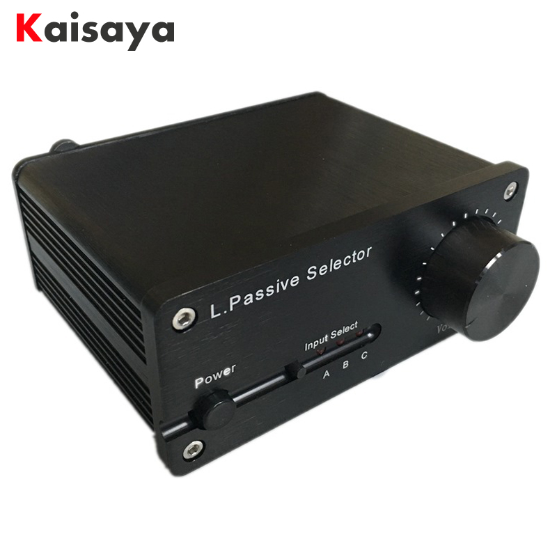 L HifiSelector Hifi Passive Selector Preamplifier Audio Selector Preamp Volume Adjust 3 in 2 out
