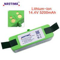 NASTIMA 14.4V 5200mAh Li-ion Replacement Battery Pack for iRobot Roomba 500,600,700,800 & 980 series 560 620 650 510 770 780 870