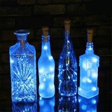 10 светодиодный s на солнечных батареях пробковый светодиодный светильник-гирлянда медная гирлянда проволочный светильник s рождественское праздничное украшение для вечеринки, свадьбы