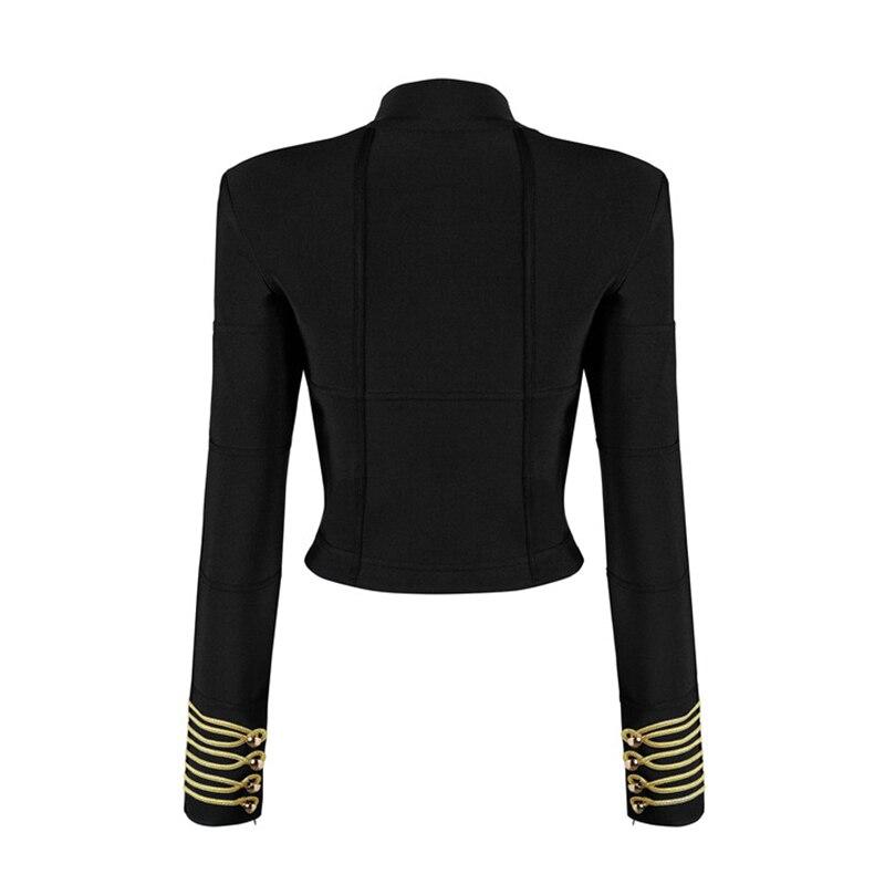 À Femmes Courte Des Bande Longues Zip Mode 2018 Veste Nouvelle Manches Designer Rue Bandage CXnxA0q8wY