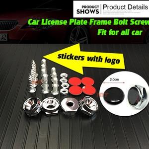 Pegatinas Logo antirrobo, pernos para marco de matrícula de coche, tornillos para benz Chevrolet Opel jaguar honda kia nissan hyundai citroen DS