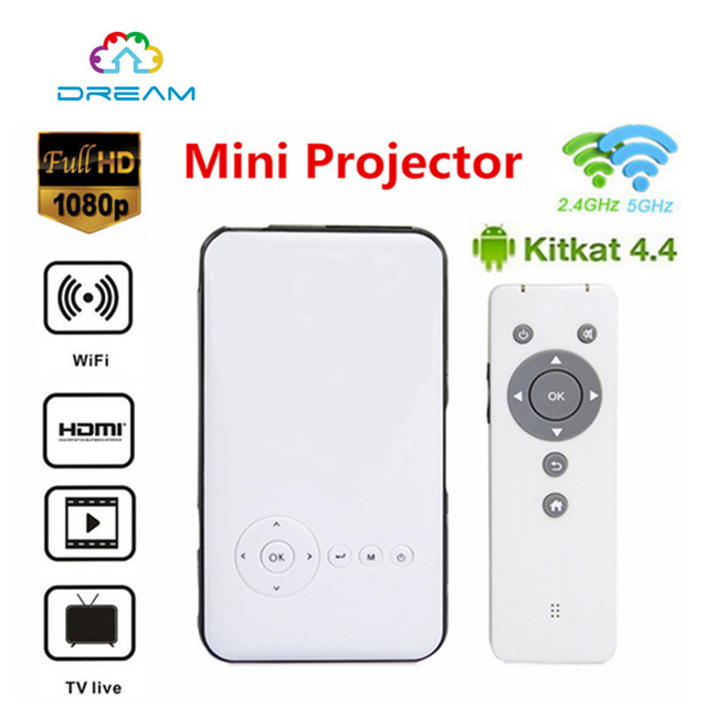 M6 Handheld Mini LED Projector 1G/8GB 2.4G/5G WiFi Bluetooth 1080P Smart Home DLP Proyector Support Miracast DLNA Android 4.4