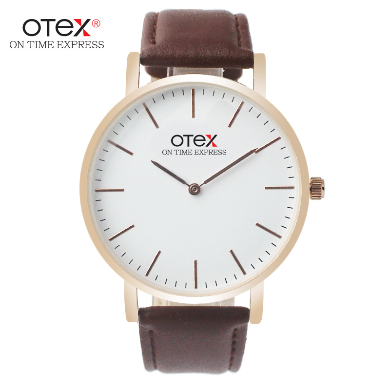 OTEX Simple Ladies Watches Top Luxury Brand Leather Strap Women Quartz Watch Ladies Bracelet Watch For Wome Females Wristwatch