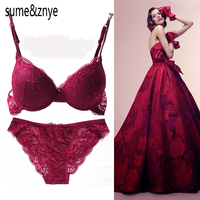 HOT 2015 Fashion Sexy Charming Lace Bra Gather Together Shape Wear Women Bra Set Comfortable Underwear