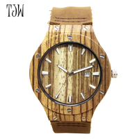 TJW Mode Neue Antike Echtem Rindsleder Band Liebhaber Uhren paar bambus uhr umweltfreundliche geschenk uhr freeshipping