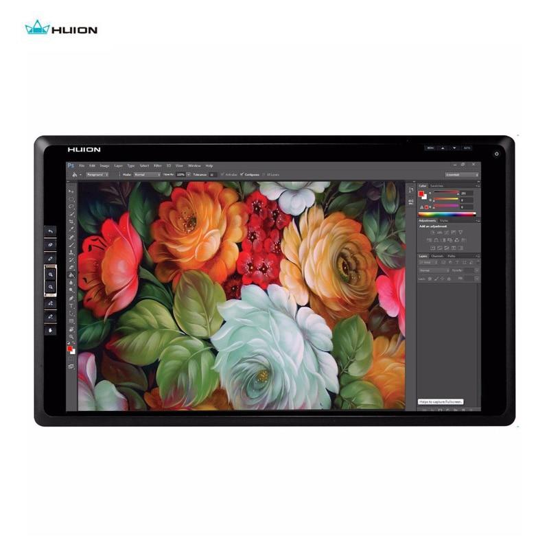 Huion 18.4 pouces moniteur graphique HDMI GT-185 écran tactile LCD dessin moniteur HDMI 8 Hotkeys pour PC gagne Mac gratuit gant DP cadeau