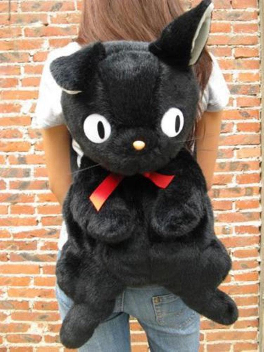 Studio Ghibli Black Cat Jiji Kiki's Delivery Service Backpack Plush Bag Gfit Toy