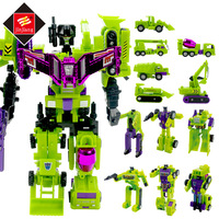 6 In 1 Deformed Toy King Kong Robot Construction vehicles Transformation Robot Toy Action Figures for child