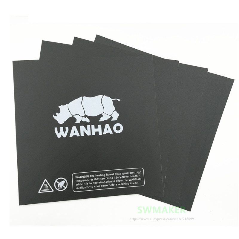 10pcs 220x220mm Wanhao i3 V2 1 3D printer spare parts printing heated bed sticker similar with