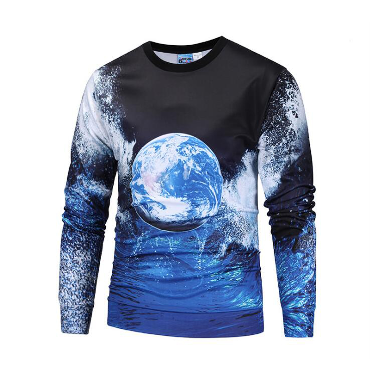 Mr.BaoLong Men Hoodies 3D Starry Sky Design Printed O-Neck Casual Loose Long Sleeve M to XXL Fashion Sweatshirts Famous Brand