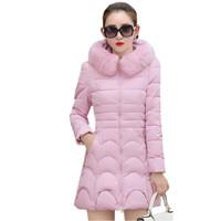 OKXGNZ-2017Winter-Jacket-Women-Cotton-Feather-Coat-Hooded-Fur-Collar-Elegant-High-Quality-Costume-Plus-Size