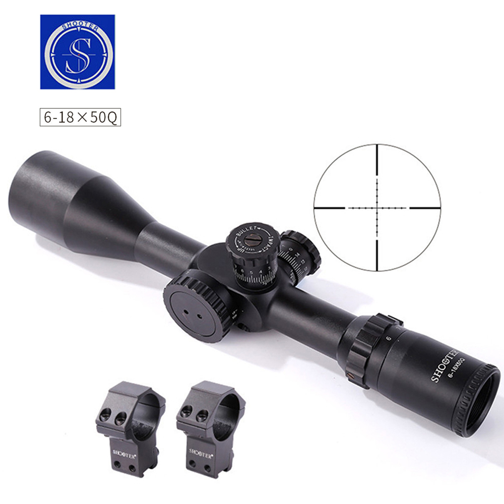 6-18X50FFP Tactical Riflescope Optic Sniper Herten Richtkijker Jakt Scopes Luchtbuks Rifle Utomhus Reticle Sight Scope