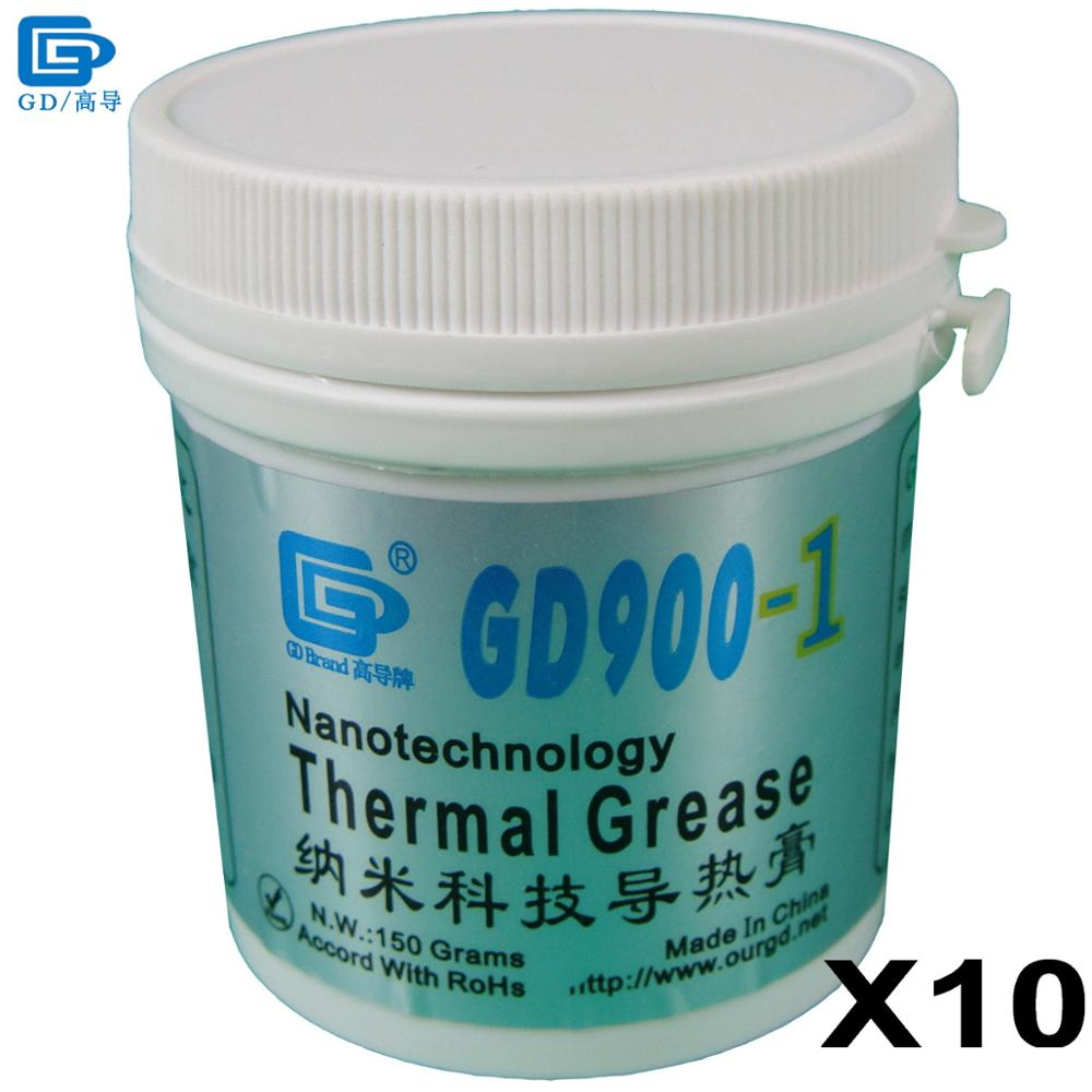 GD900-1 Thermal Conductive Grease Paste Silicone Heat Sink Compound 10 Pieces Net Weight 150 Grams Containing Silver Gray CN150 все цены