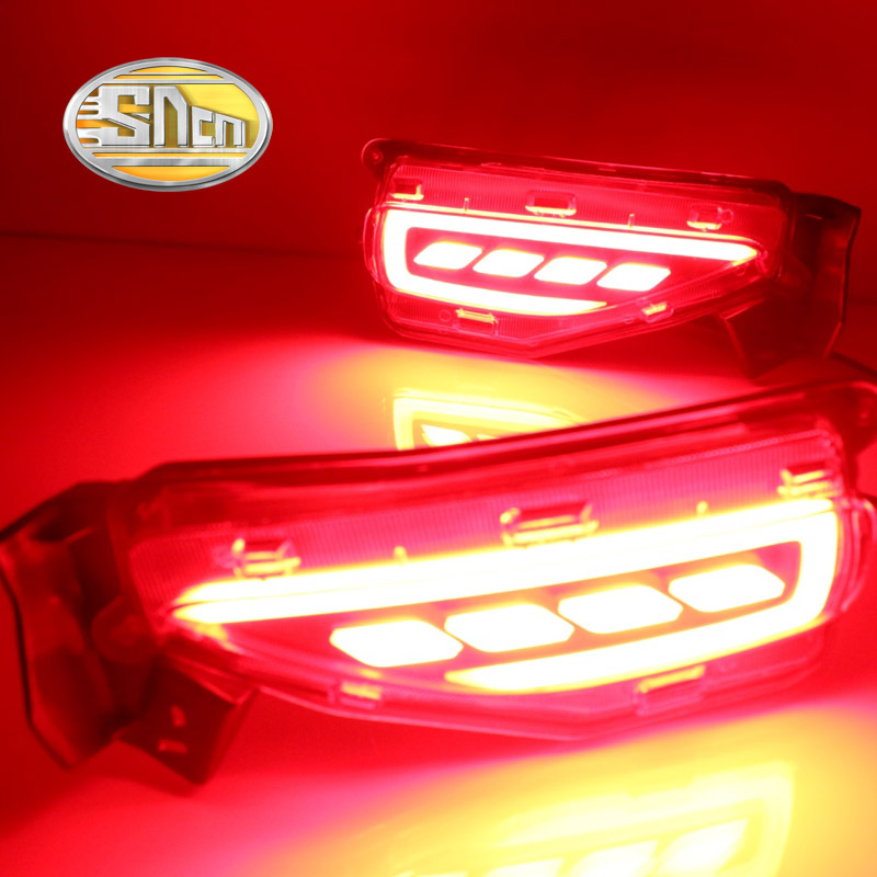 SNCN Multi-function LED Reflector Lamp Rear Fog Lamp Bumper Light Brake Light Turning Signal Light For Toyota Fortuner 2015 2016
