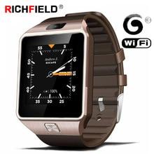 цена на Original 3G WIFI QW09 Smart Watch Men Sim Card 4GB/512MB Bluetooth Phone Watch Sport Watches Pedometer PK DZ09 Smartwatch Women