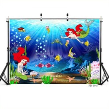 Little Mermaid Photography Background For Children Photo Shoot Props Party Vinyl Cloth Computer Photo Backdrops Photo Studio interior room photography backdrops 3x5m vinyl print photo background for wedding party studio photo shoot vinyl c 0742