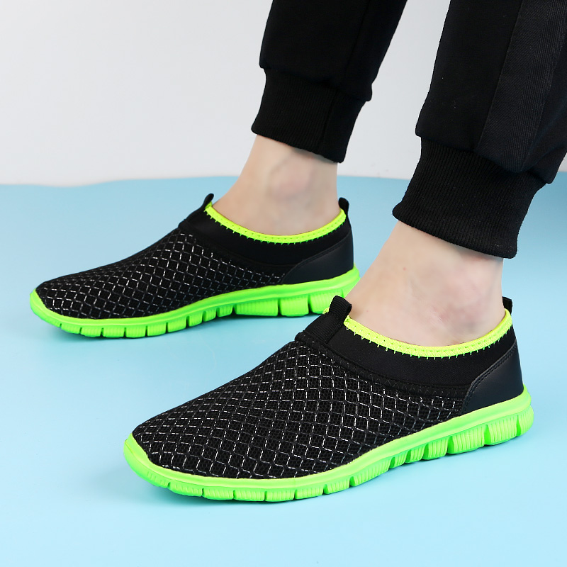 2018 new men's casual shoes platform light loafers summer breathable - Men's Shoes - Photo 3