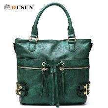 Dusun farbverlauf frauen handtasche vintage hohe kapazität quaste umhängetaschen frauen mode umhängetasche damen totes