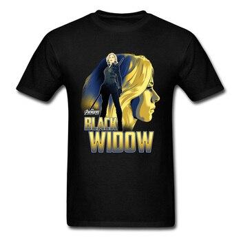 Black Widow T Shirt Men Endgame Avengers Tops & Tees Marvel Avengers 4 T-Shirts Resurgence Star War Justice League Tshirts