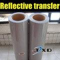 Boa qualidade PU refletir a luz T-shirt película da impressão de transferência, papel de transferência de tecido 50 CM X 100 CM/LOT