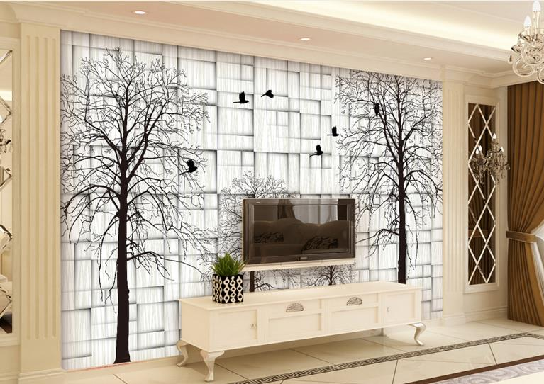 3d Custom Wallpaper European Style Abstract Woods Simple Living Room Bedroom TV Background Wall Murals wall papers home decor european 3d wallpaper moroccan style wall stickers waterproof kitchen toilet decoration classical pattern living room murals