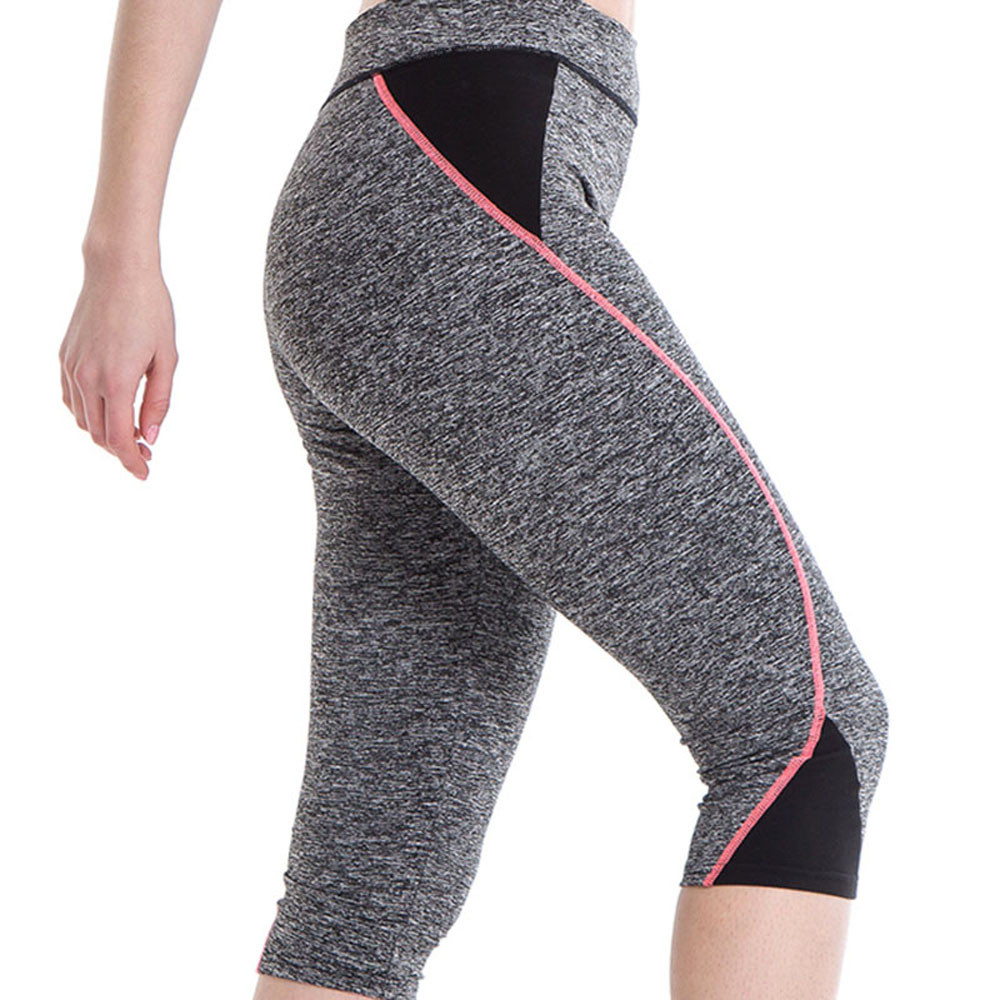 Womail Brand Hot Sale Tights High Waist Fitness Yoga Sport Pants Stretch Cropped Leggings