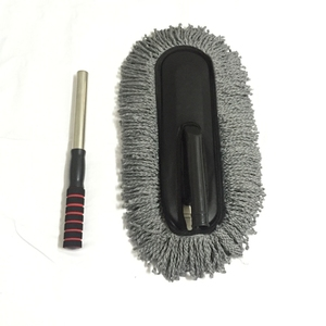 Image 3 - Microfiber Car Cleaning Brush Auto Window Duster Retractable Stainless Steel Long Handle Car Wash Drag Wax Shan Washer