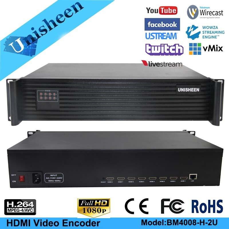 MPEG-4 AVC/H.264 8 Kanal HDMI Encoder Kabel TV RTMP Streaming IPTV/Live Broadcast/Campus Broadcast Video encoder