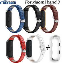 Smart Bracelet For Mi Band 3 Sport leather Colorful Strap for xiaomi band Replacement classic Leather Wristbands watchband