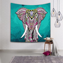 BeddingOutlet Elephant Tapestry Wall Hanging Animal Twin Hippie Tapestry Blue Boho Hippy Bohemian Dorm wall blanket beach towel(China)