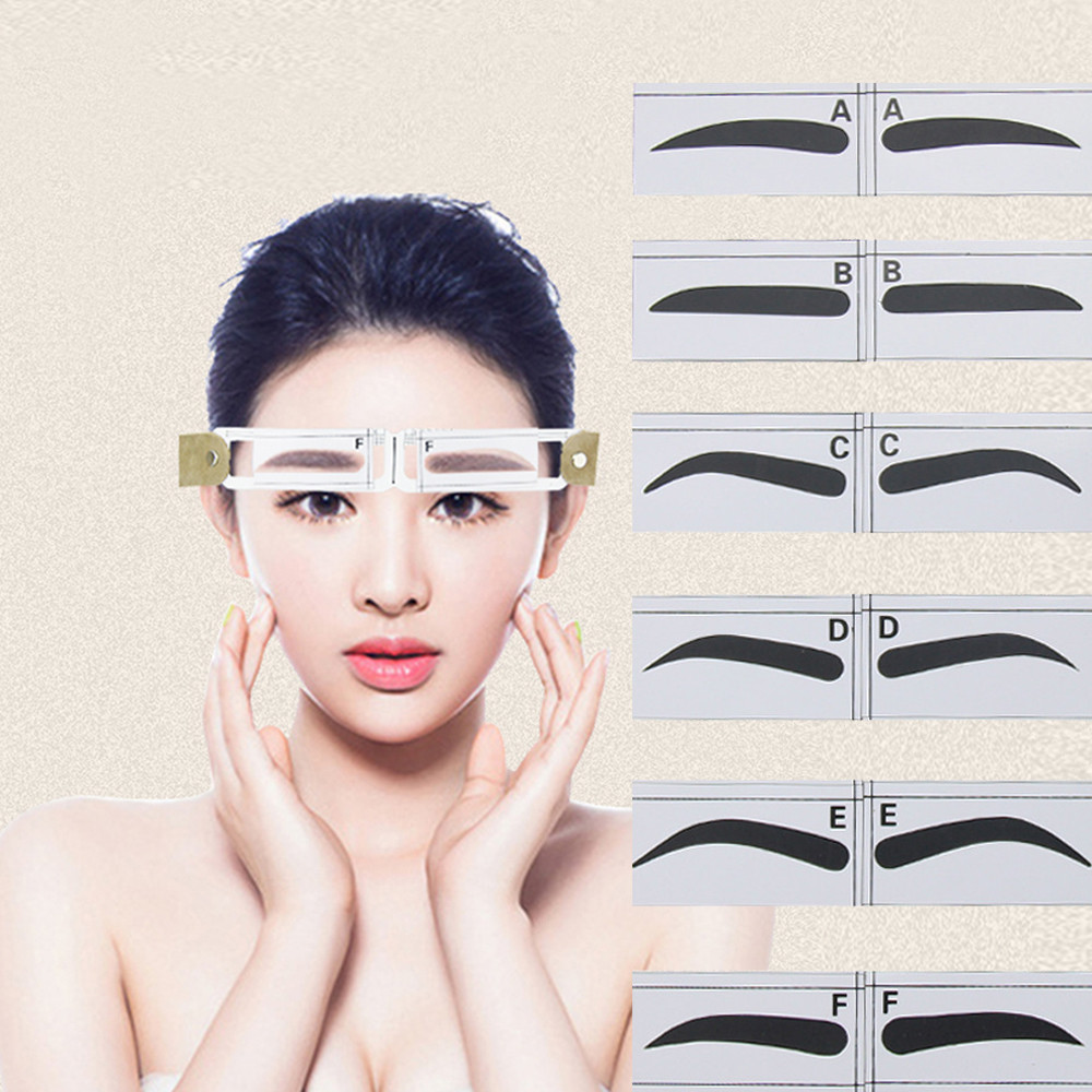 Magnetic Microblading Makeup Brow Measure Eyebrow Guide Ruler Permanent Tools Eyebrow Stencils #85 wholesale 50pcs eyebrow stencils eyebrow