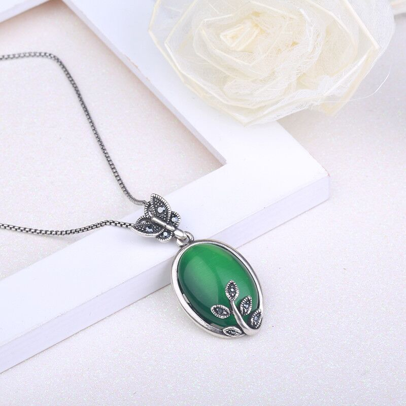 New titanium steel necklace A041 2018 European and American popular women's jewelry personalities exaggerated retro holiday gift