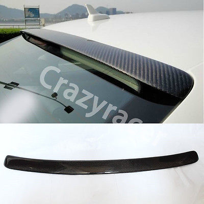 A4 B9 Carbon Fiber Rear Roof Spoiler Wing For Audi A4 B9 Sedan 2013-2015 partol black car roof rack cross bars roof luggage carrier cargo boxes bike rack 45kg 100lbs for honda pilot 2013 2014 2015