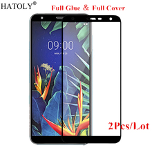 2Pcs For LG X4 2019 Glass Tempered for Film Full Glue Cover HD Hard Screen Protector