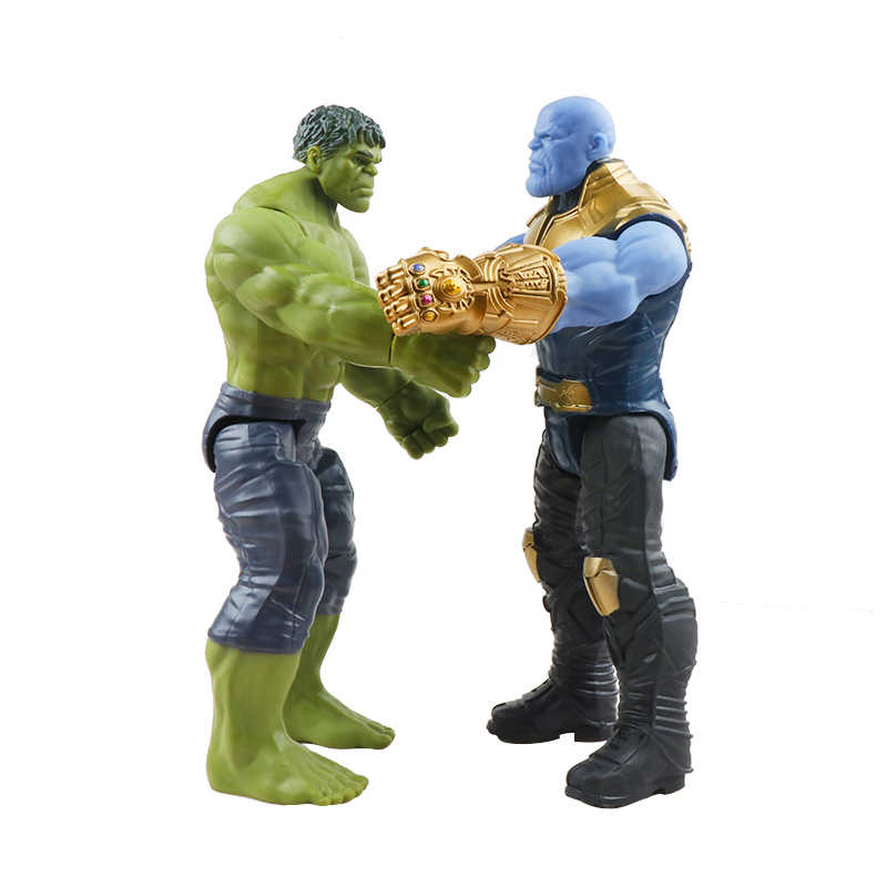 30 см Marvel Мстители эндгейм танос Человек-паук Халк Железный человек Капитан Америка Тор Росомаха фигурка героя игрушки куклы для детей